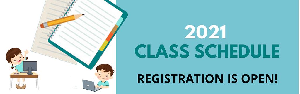 2021 writing class schedule