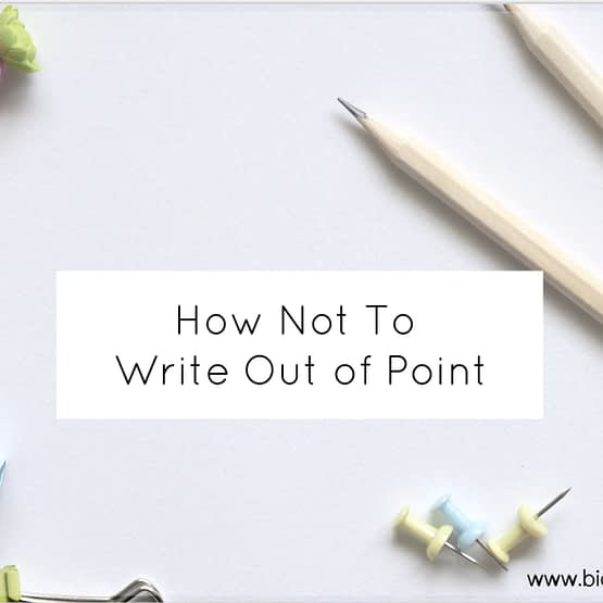 how not to write out of point
